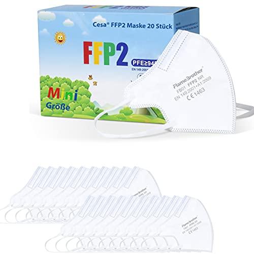 CESA kleine FFP2 20 Stück Maske mini Atemschutzmaske Mundschutz Mund und Nasenschutz
