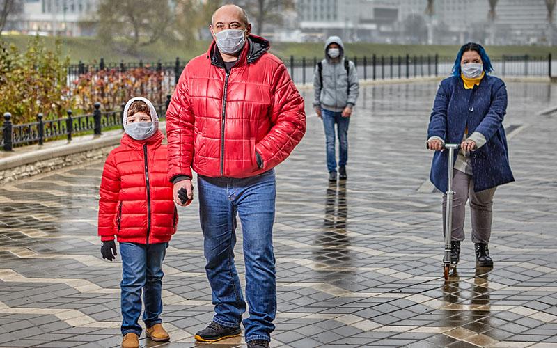 masques respiratoires jetables
